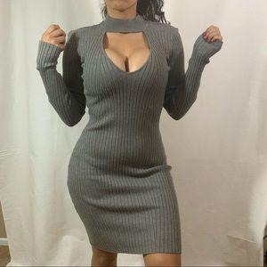 Kendall & Kylie Clothing long sleeve choker dress